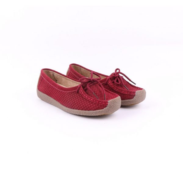 Lily Emboss - Maroon