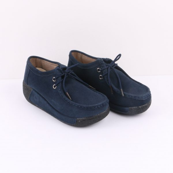 Sakura Wedges - Navy Blue